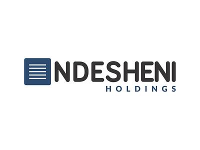 Ndesheni Holdings Logo holdings corporate identity logodesign branding design brand logo design logo brand identity branding vector design
