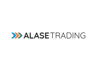 Alase Trading Logo green orange blue branding design logodesign brand logo design logo brand identity branding vector design