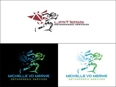 Michelle vd Merwe Orthopaedic Services Logo Redesign orthopaedics brand design logodesign color illustration brand logo design logo brand identity branding vector design
