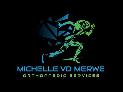 Michelle vd Merwe Orthopaedic Services Logo Redesign orthopaedics branding design logodesign color illustration brand logo design logo brand identity branding vector design
