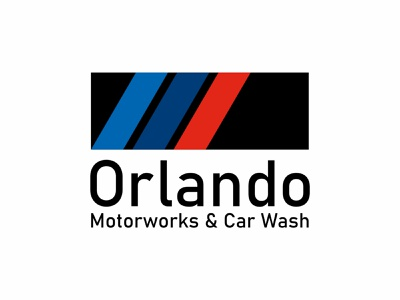 Orlando Motorworks Logo black red blue logotype motorworks bmw branding design logodesign brand vector brand identity branding design logo design logo