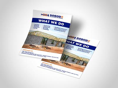 Sobode Construction & Projects Flyer image ad designer design construction flyer