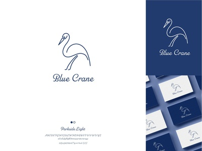 Blue Crane Guesthouse Logo logotype guesthouse nature crane blue bird vector branding design logodesign illustration logo brand brand identity design logo design branding graphicdesign