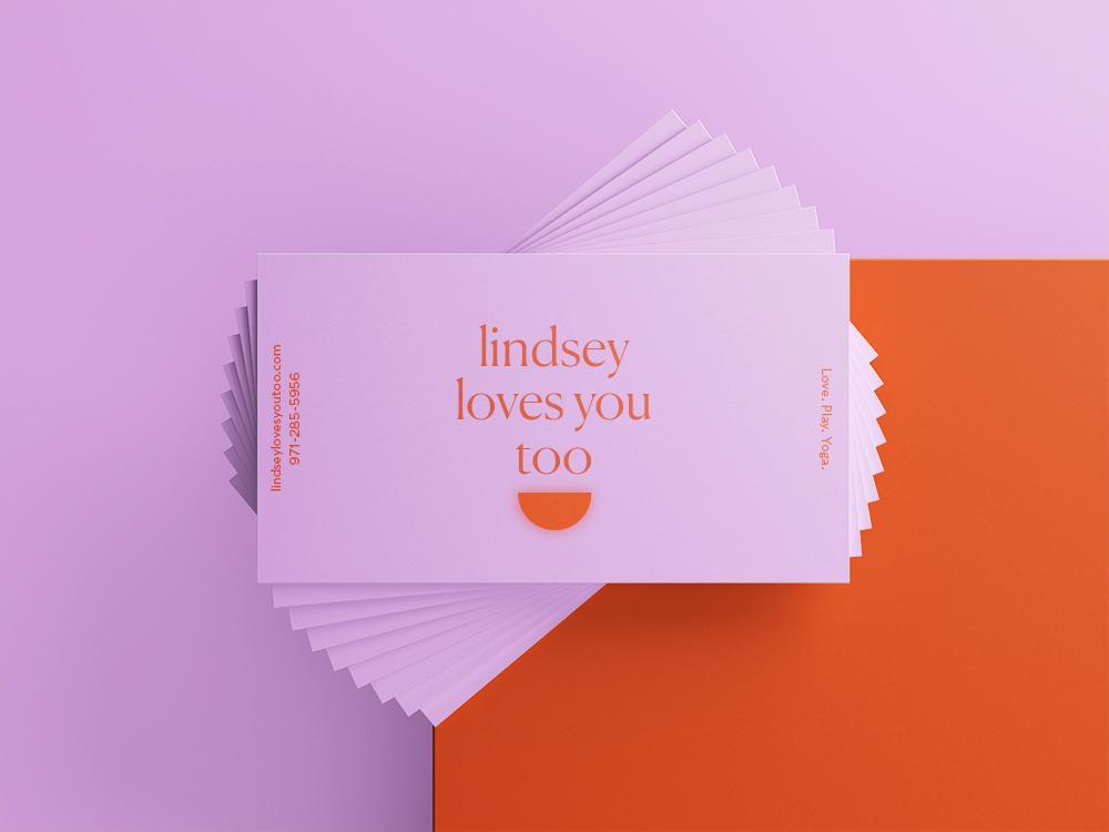 Lindsey Loves You Too Business Cards layout design design print vector typography logo design brand identity brand design branding