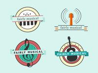 Fairly Musical Logo Badges
