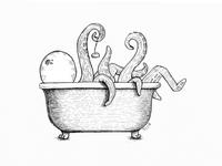 Tentacle Bath Illustration
