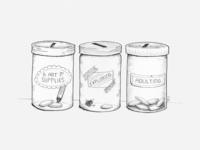 Adulting Savings Jar Illustration