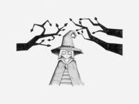 Angular Witch Illustration