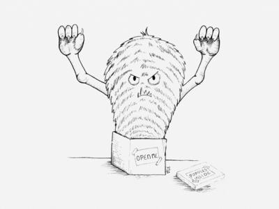 Monster Surprise Illustration