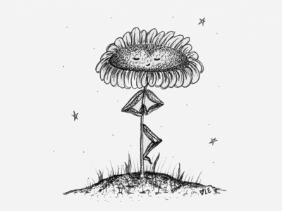 Namaste Yoga Flower Illustration