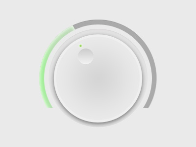 Volume Dial dial button green grey
