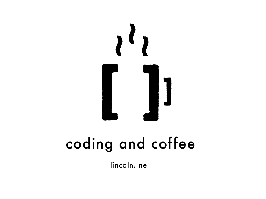 Coding and Coffee Logo branding logo design