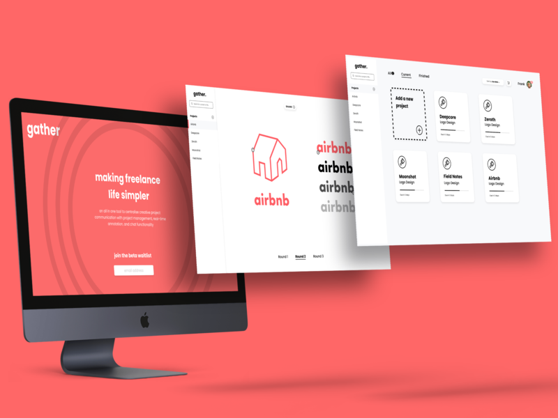 UI/UX Design for Gather web ux ui design