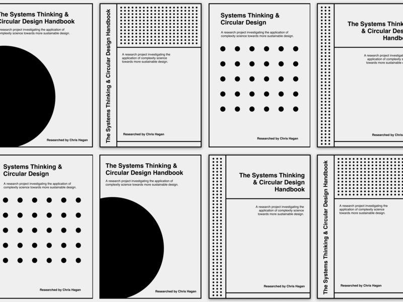 The Systems Thinking and Circular Design Handbook typography print design
