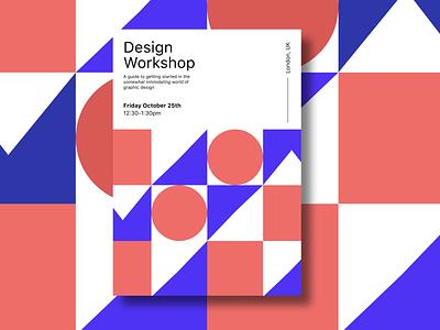Design Workshop Poster branding design