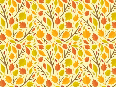 Autumn pattern leaves autumn pattern icons leaf illustration fall nature branch