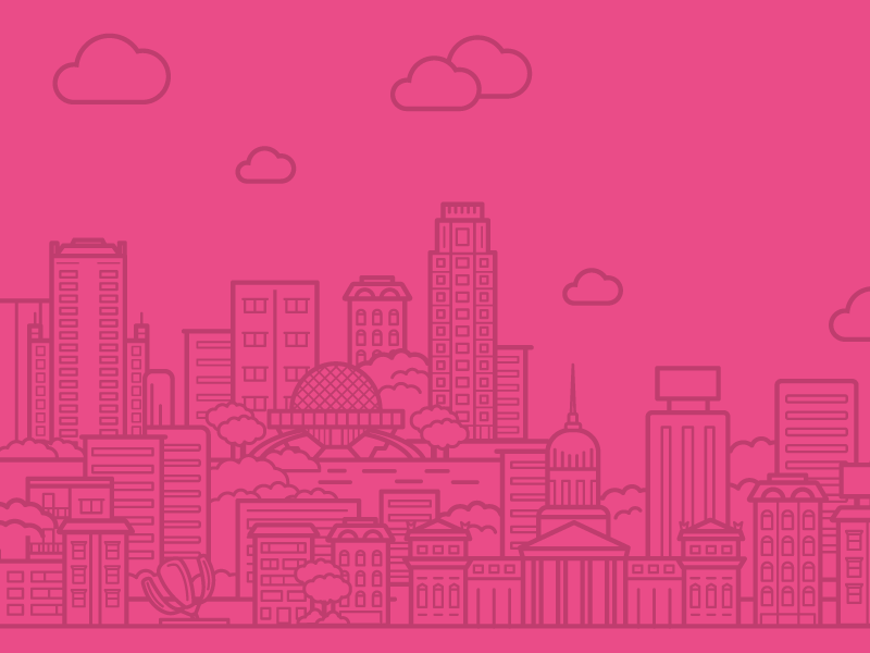 Dribbble Meetup Buenos Aires dribbble argentina buenos aires city meetup event clouds illustration