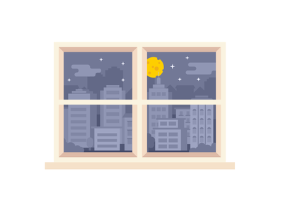 Cheese moon cheese food wall decal city night playoff sticker mule buildings window