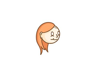 WIP - Floating head handmade wacom illustration avatar face hair character head girl wip