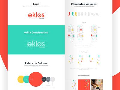 Eklos Guidelines brand logo ui landing guidelines identity branding