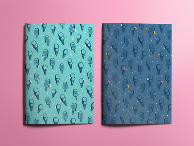 🍦 💛 frozen 🍦 food illustration stroke cone ice cream patterns pattern