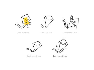 Respect the kite! shine paint cute faces illustration dont guide brand guide logo kite