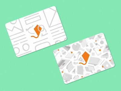 Business cards pattern food code mac floating grey sketch wireframe kite illustrations cards bussines cards