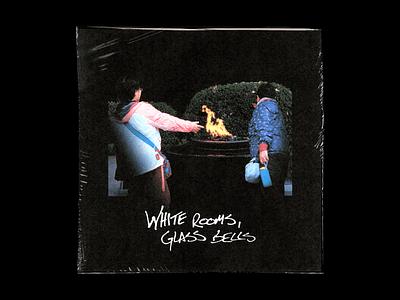 White Rooms, Glass Bells producer black type artwork cd cover cd music album bells glass rooms white