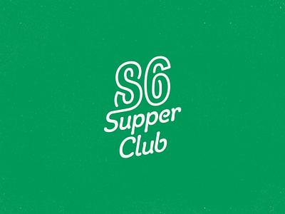 Eighty-Six Supper Club green supper club logotype wordmark lettering branding logo eighty-six club supper 86