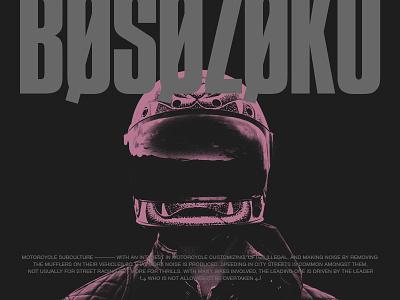 Bosozoku bosozoku layout biker gang grey black purple japan badass type bike gang motorcycle