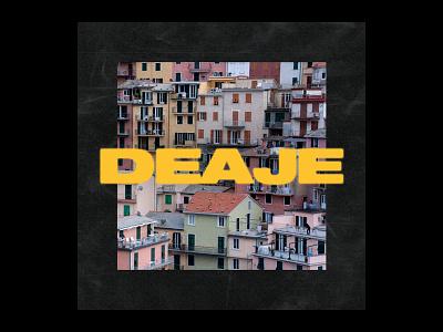 Deaje square texture color yellow type artwork record art cover album deaje