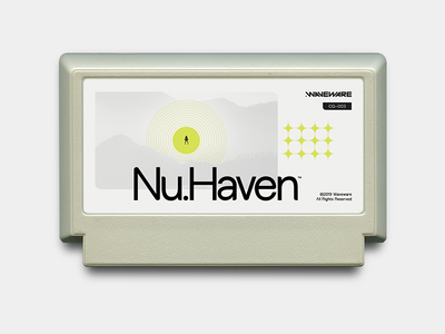 Nu.Haven™ type 2019 cartridge gray design videogames famicom haven nu nuhaven famicase