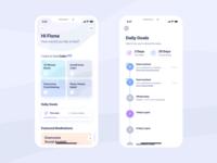 Mind Detox Mobile App UI mobile gradient flat ux interface white minimal guided meditations app meditation mindfulness clean ui