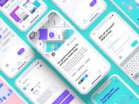 Investr Cap Mobile App minimal ios mobile flat gradient purple interface white ux app clean ui
