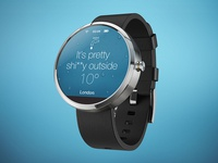 Moto 360 Weather App UI
