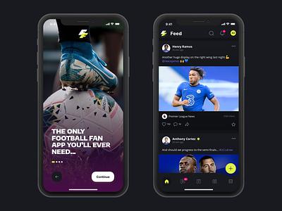 Football Fan App UI Concept sports brand footballfan football fan app sports app ui design user interface ui soccer app euros app football app world cup app social football football