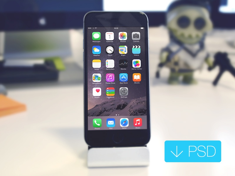 iPhone 6 Mockup Free PSD psd free psd iphone 6 mockup iphone 6 psd iphone psd iphone mockup photorealistic mockup