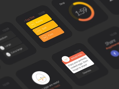 Apple Watch UI Exploration apple watch iwatch watchkit watch ui smart watch watch interface ui ux egg timer app