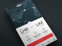 iOS Flight Tracker App UI