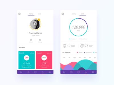 Donation Profile Concept UI