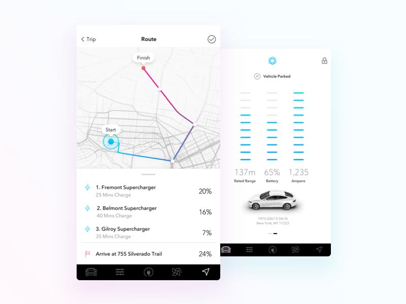 Tesla Remote iOS App ui car ui car ux stats automation tesla tesla model s
