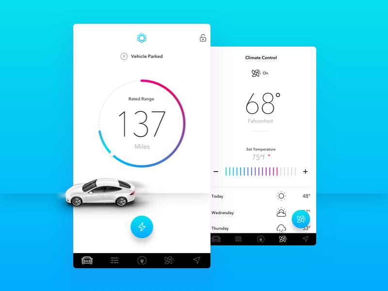 Tesla Remote iOS App mobile app ux ui car ui car ux stats automation tesla tesla model s