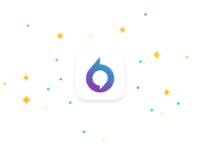 Anonymous App Icon icon visual design stars purple app social bubbla bubble speech mark speech app icon