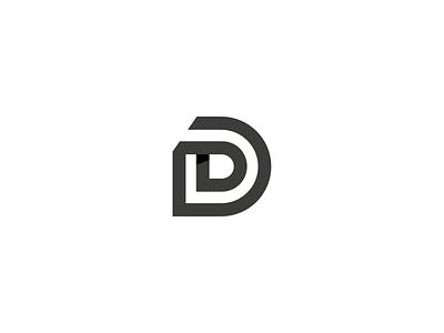 D Mongram typography typeface type logomark icon mark brand identity brand d monogram symbol logo