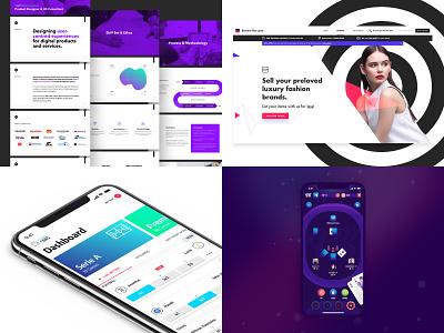 2018 in a nutshell 🌰 gaming blackjack poker website brand web branding flat mobile ios gradient interface purple ux white app clean ui