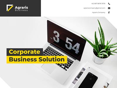 Agraris Corporate Flyer TS branding illustration design minimalist creative elegant white black yellow corporate flayer