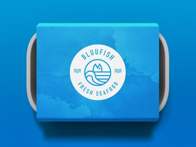 Bluufish takeout container packaging visual branding mockup
