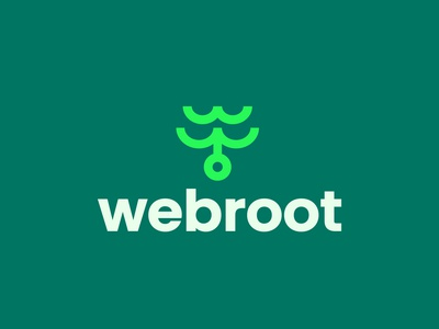 Webroot app visual branding vector branding icon logo
