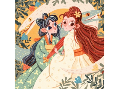 Legend of White Snake (Madam White Snake) photoshop human illustration picture book book cover picturebook illustrator illustrations snake illustration digital illustration artist painting drawing artwork childrens illustration illustration design illustration art illustration