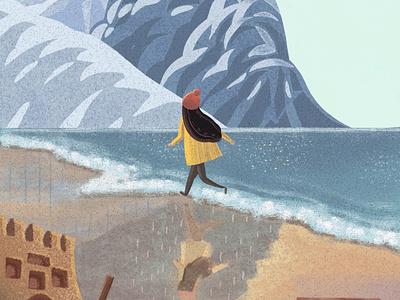 Beach Run design illustration art illustration